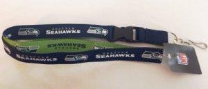 NFL Seattle Seahawks Two Tone Lanyard, Navy/Green, One (Seattle Seahawks Lanyard)