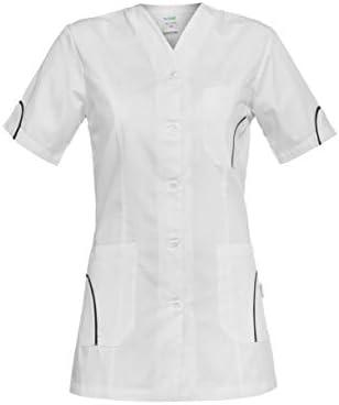 Camice da Medico con Bottoni Automatici DINOZAVR Silvia Uniformi sanitarie Medico Casacca da Donna