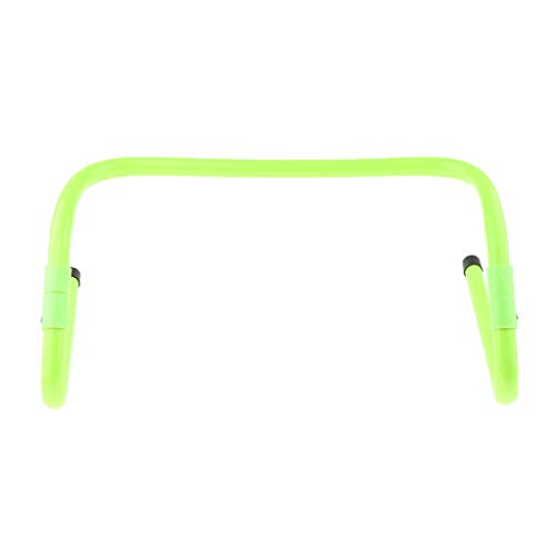 Prettyia Adjustable Agility Hurdles for Soccer, Sports and Speed Training with Maximum Height 15cm/Minimum Height 30cm - Green