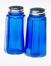 Mosser Glass Salt and Pepper in Cobalt by Mosser Glass