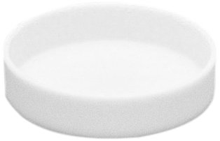 CoorsTek 65591 High-Alumina Circular Dish, 10mL Capacity, 40mm OD, 10mm Height by CoorsTek