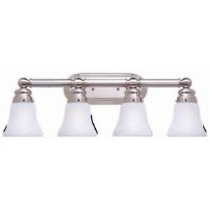 Hampton bay 4 light brushed nickel bath light vanity - 8 light bathroom fixture brushed nickel ...