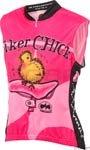 World Jerseys Biker Chick Sleeveless Jersey LG Pink