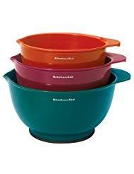 blue kitchenaid mixing bowls - 9