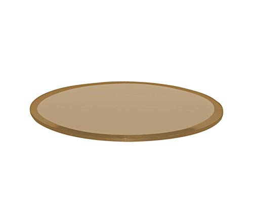 Wood & Style Office Home Furniture Premium Bronze 24 Inch Round 1/2 Inch Thick Beveled Tempered Glass Table Top, 24
