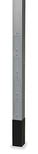 Hubbell Wiring Systems HBLPPOA Four Style Line Knockout Extruded Aluminum Service Blank Pole with Divider, 122'' Height, Gray by Hubbell Wiring Systems