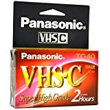 Panasonic Super High-Grade Videocassette VHS-C TC-40 by Panasonic