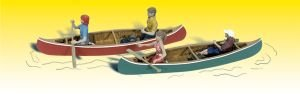 Figures Accents Scenic (Woodland Scenics O Canoers WOOA2755)