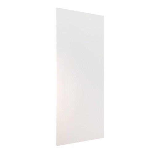 Homcom Holzschiebetür Schiebetür Tür Zimmertür Schiebesystem Holz 2035x880x40mm (weiß)