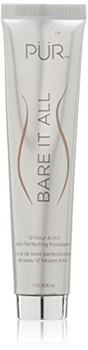PÜR Bare It All 4-in-1 Skin-Perfecting Foundation, Tan, 1.5 Oz (Best Skin Perfecting Foundation)