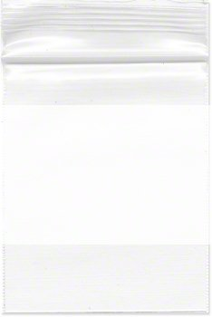 2.5″ x 3″, 4 Mil (Pack of 200) Heavy Duty Plastic Reclosable Zipper Bags w/White Block