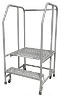 product image for Cotterman 1002R2626A3E20B3C1P6 - Rolling Ladder Steel 50In. H. Gray