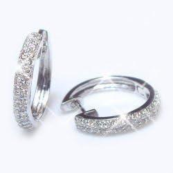 [ラグジュエリー][Lugejewelry]K18 0.5ctダイヤモンドパヴェフープピアス0.5カラット K18YG(イエローゴールド) [ジュエリー]【ラッピング対応】