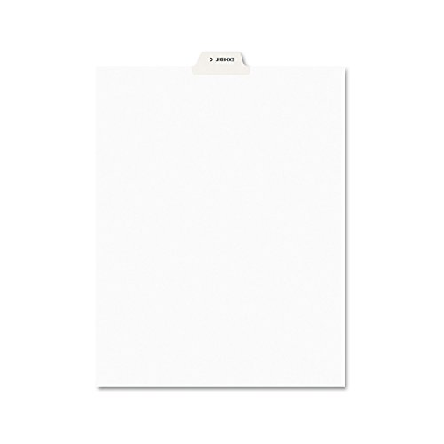 (Avery 11942 Avery-Style Preprinted Legal Bottom Tab Divider, Exhibit C, Letter, White (Pack of 25))