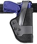 Uncle Mike's Law Enforcement Mirage Basketweave Standard Retention Jacket Slot Duty Holster (Right Hand, Black, Size 2)