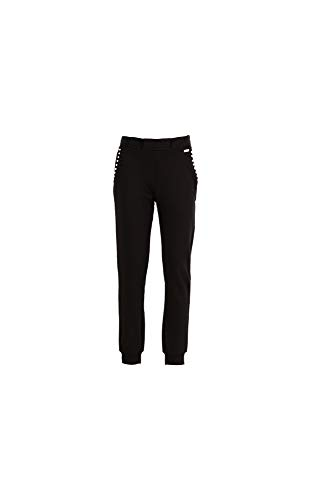 Pantalon 010 Cafè Avec E18 Plis Polaire Nero Noir Kjf129 700qaE