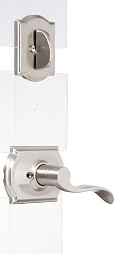 (Camelot Collection Accent Left-handed Handleset Interior Lever (Satin Nickel) F59 ACC 619 CAM LH (Interior Half Only))