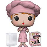 Funko Pop! TV: I Love Lucy - Factory Lucy Vinyl Figure (Bundled with Pop Box Protector Case) -
