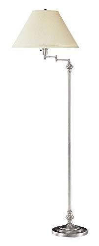 Steel Swing Arm Floor Lamp - Cal Lighting BO-314-BS Transitional Swing Arm Floor Lamp, 150-watt, Brushed Steel, 21.8