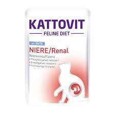 Kattovit Feline Diet Niere/Renal mit Ente | 24 x 85g Katzenfutter