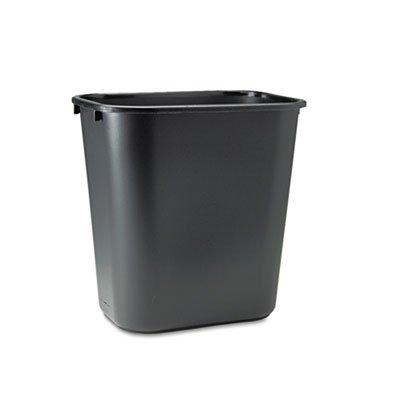 Rubbermaid® Commercial - Deskside Plastic Wastebasket, Rectangular, 7 gal, Black - Sold As 1 Each - Easy to handle.