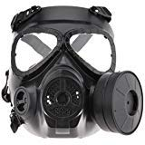 Airsoft Paintbal Dummy Tactical Gas Mask Full Face Eye Protection Skull Dummy Toxic Gas Mask With Filter Fans and Adjustable Strap for Cosplay Protection Zombie Soldiers Halloween Masquerade -