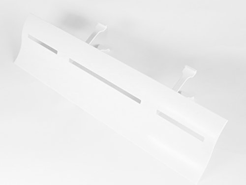 2x Air Wing Slit The Original Air Conditioner Deflector for line-type outlet (linear diffuser) (White, 2 wings)