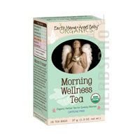 - Earth Mama Organic Morning Wellness Tea Bags for Occasional Morning Sickness, 16-Count