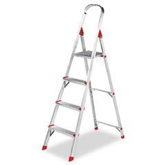 - #566 Four-Foot Folding Aluminum Euro Platform Ladder, Red