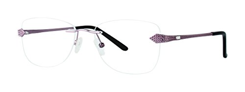 A372 Women's Glasses - Modern Art Stainless Steel Frames - Eyewear by Modern Optical - Rose - Eyewear Mount Rimless