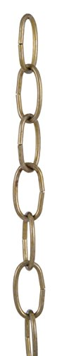 Oval Antique Finish (B&P Lamp Antique Brass Finish 8 Gauge Oval Chain)