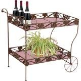 Deer Park Steel Imperial Serving Cart, Black