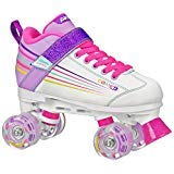 Pacer Comet Quad Kids Roller Skate, with Light Up Wheels, P973, white sz 2