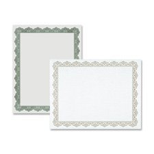 Optima Gold Border (Parchment Paper Certificates, 8-1/2 x 11, Optima Gold Border, 25/Pack, Sold as 1 Package by Geographics)