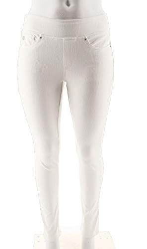 Belle Kim Gravel Flexibelle Jeggings Pockets-White 12 New A300367 from Belle by Kim Gravel