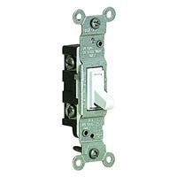 Leviton White Residential Grade AC Quiet Toggle Switch 105-1
