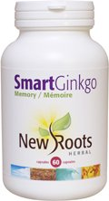 New Roots Herbal - Smart Ginkgo for Memory - 60 Caps by New Roots Herbal