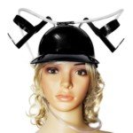 Halloween Costume Thirst Aid Beer Helmet Beer Hat (Black)