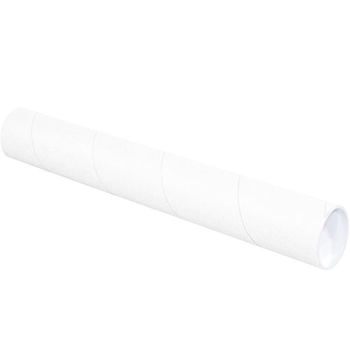 Ship Now Supply SNP3024W Mailing Tubes with Caps, 3