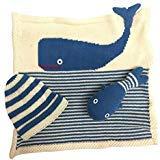 Estella gift-whale Hand Knit Whale Organic Cotton Newborn Baby Gift Set by Estella by Estella (Image #2)