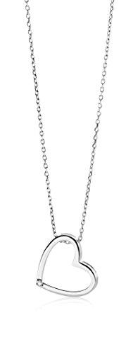 Miore – Colgante de mujer con oro blanco (9 k), diamante redondo, 46 centimetros Miore – Colgante de mujer con oro blanco (9 k), diamante redondo, 46 centimetros Miore – Colgante de mujer con oro blanco (9 k), diamante redondo, 46 centimetros