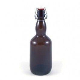 500 ml (16 oz) Amber Flip-Cap Bottles 12 pack