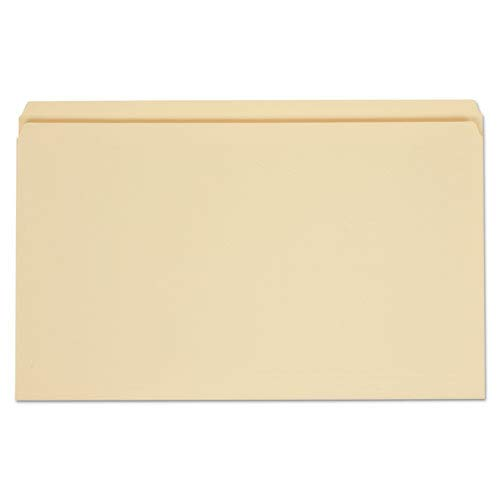 File Folders, Straight Cut, One-Ply Top Tab, Legal, Manila, 100/Box, Sold as 100 Each