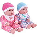 Sweet Baby Twins - My Sweet Love Expressive Faces 15-Inch Twin Baby Dolls with Coordinating Outfits
