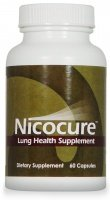 Nicocure supplément naturel sur la santé pulmonaire - Support à base de plantes pour la récupération du poumon après avoir arrêter de fumer ~ 1 Bouteille