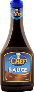 Chef Brown Sauce squeezy Large (730g) 25.7oz Imported from Ireland ()