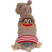 Monkey Hoodie Dog Sweater Size: Large
