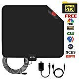HDTV Antenna-Amplified Digtial TV Antennas 50-60 Miles Range with Detachable Signal Booster,13.5ft long
