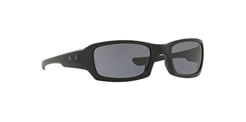 Oakley Polarized Si Fives Squared Sunglasses OO9238-11 Matte Black/Grey Polarized