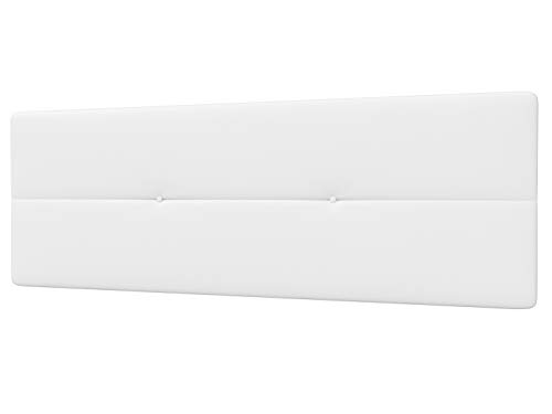 LA WEB DEL COLCHON - Cabecero Tapizado Genova para Cama de 135 (145 x 55 cms) Blanco   Cama Juvenil   Cama Matrimonio   Cabezal Cama   Cabeceros tapizados Dormitorio